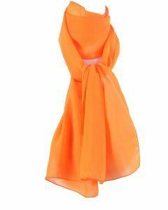 Effen oranje crêpe sjaal