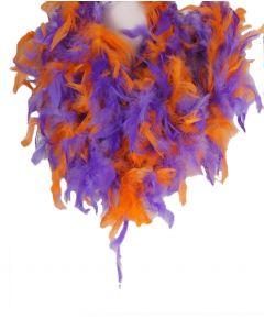Tweekleurige boa in paars en oranje