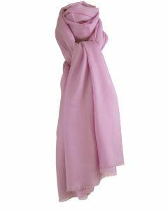 Effen orchidee-roze sjaal van zachte wollen mousseline