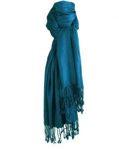 Donker turquoise pashmina sjaal