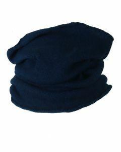 Donker-jeansblauwe colsjaal van 100% kasjmier