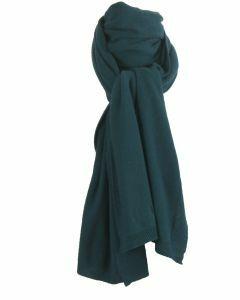 Kasjmier-blend sjaal in petrol