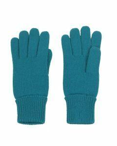 Fijngebreide handschoenen in turquoise
