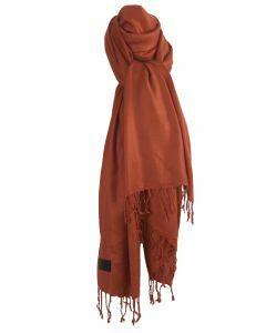 Roest-oranje pashmina sjaal