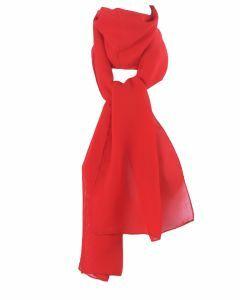 Rode crêpe voile sjaal