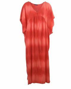 Rode maxi jurk met kleurverloop