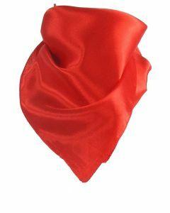 Effen helder rood sjaaltje