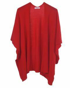 Kasjmier-blend vest in rood