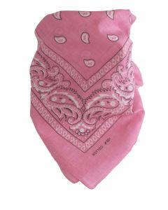 Boerenzakdoek / bandana in lichtroze