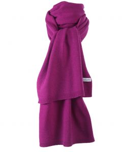 Kasjmier-blend sjaal in cyclaam