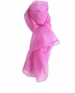 Effen zuurstok roze voile sjaal