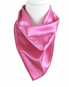 Vierkante satijnen sjaal in de kleur zuurstok roze