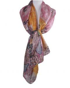 Zijden sjaal/stola met print ''The Women Friends'' van Gustav Klimt
