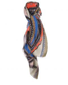 Jadegroene sjaal met paardenprint