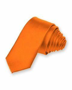 Oranje extra smalle stropdas