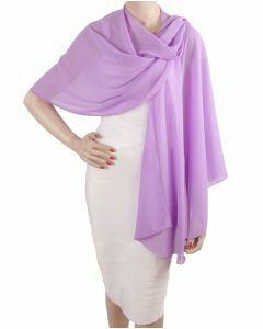 Lila kleurige soepelvallende cape stola