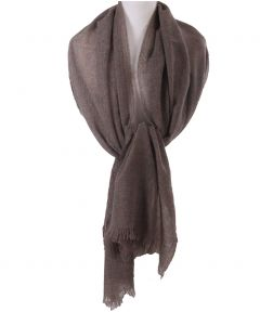 Taupe kleurige stola/sjaal van 100% kasjmier