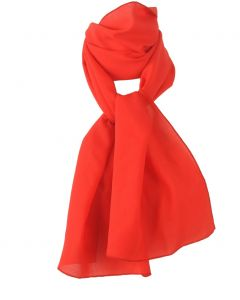 Donker oranje / tomaten-rode crêpe sjaal