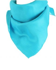 Vierkante turquoise sjaal