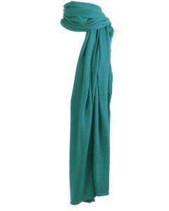 Kasjmier-blend sjaal/omslagdoek in de kleur turquoise