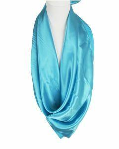 Turquoise effen satijnen sjaal