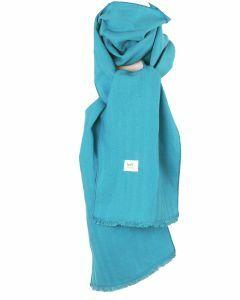 Turquoise linnen sjaal