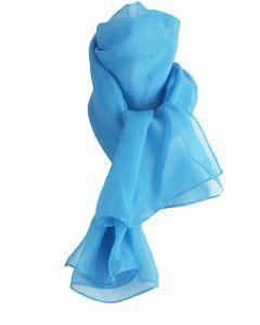 Aqua effen voile sjaal