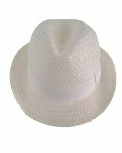 Witte fedora hoed