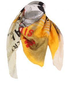 """Zijden art-collection sjaal """"Le Moulin Rouge concert bal"""""""