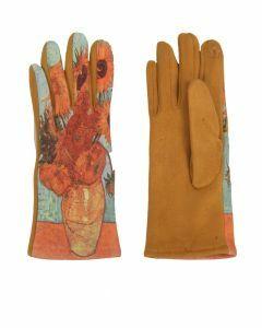 Handschoenen met afbeelding van ''Zonnebloemen'' door Van Gogh