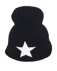 Zwarte muts met witte ster