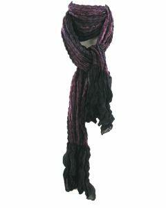 Gecrushte tie & dye sjaal in paars