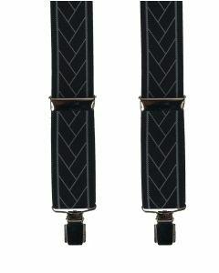 Zwarte bretels met grafisch motief in grijs