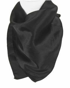 Vierkante effen zwarte sjaal