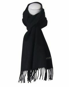 Effen zwarte sjaal van Alpaca wol