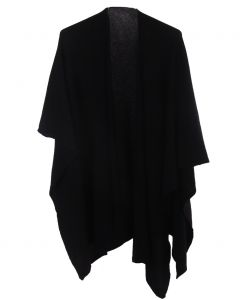 Zwarte omslagdoek van 100% kasjmier
