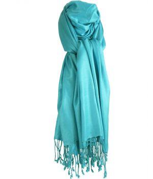 Turquoise pashmina sjaal
