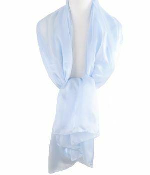 Zijden stola/sjaal in lichtblauw