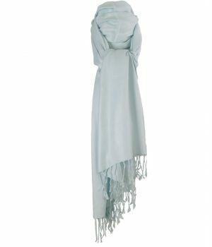 Lichtblauwe pashmina sjaal