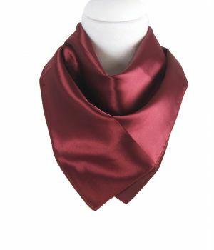 Vierkante satijnen sjaal in de kleur bordeauxrood