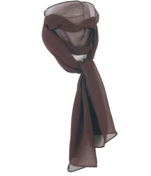 Effen donkerbruin crêpe voile sjaal