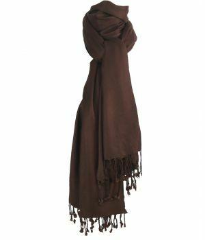 Kastanjebruine pashmina sjaal