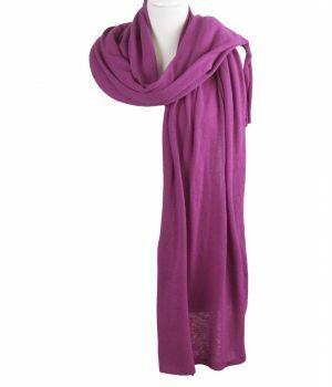 Kasjmier-blend sjaal/omslagdoek in cyclaam