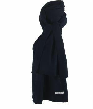 Kasjmier-blend sjaal in marineblauw
