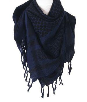 PLO sjaal / Arafat sjaal in zwart-donkerblauw