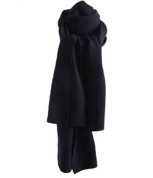 Tricot sjaal in marineblauw