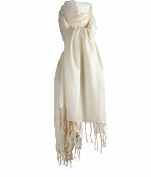 Ecru kleurige pashmina sjaal