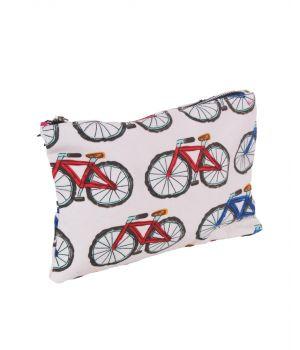 Canvas etui met fietsen print