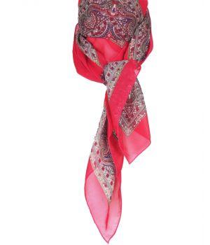 Vierkante fuchsia crêpe voile sjaal