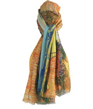 Schilderij-sjaal met afbeelding ''De oogst'' van Gogh